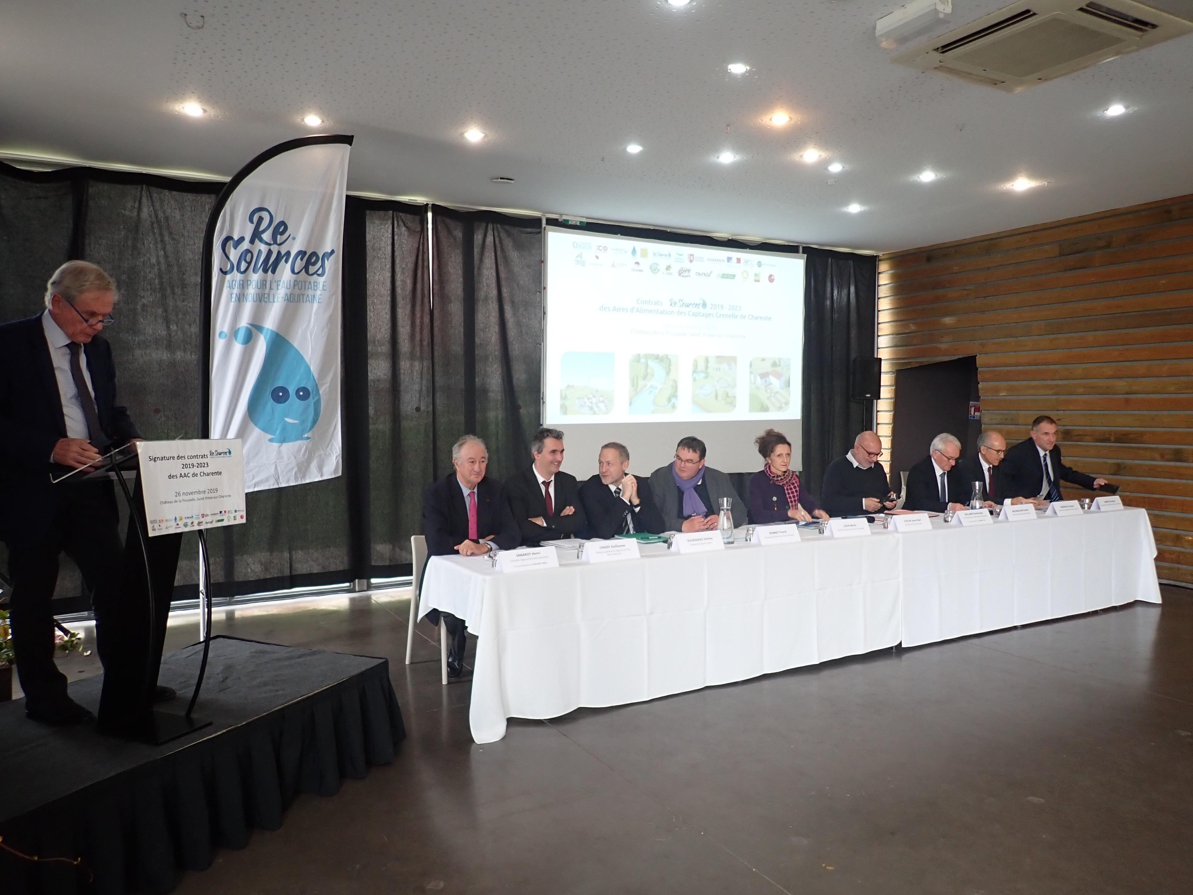 Sept contrats Re Sources 2019 – 2023 signés pour les Aires d'Alimentations de Captages Grenelle de Charente