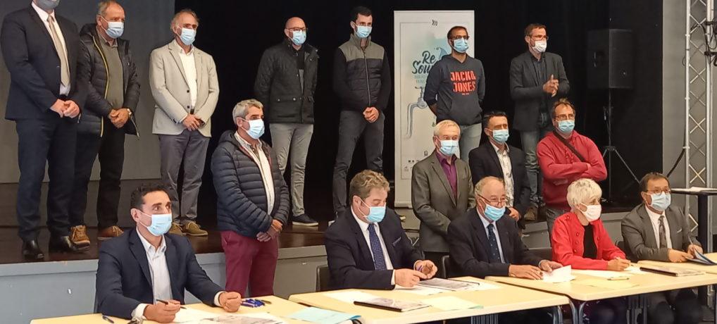 Signature d'un contrat Re-Sources 2020-2024 dans les Pyrénées-Atlantiques